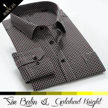 new brand name men formal low moq stripe long sleeve shirt bag