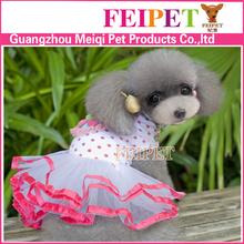 Fancy black poko dot dog dress wholesale dog clothes dress