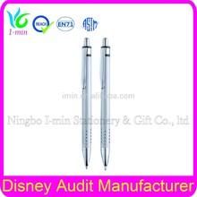 Cheap ball pen for promotion metal ballpoint pen springs button bp065