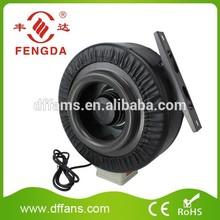 High Speed Fan Inline Duct Hydroponic Ventilation