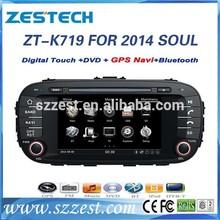 ZESTECH Auto parts 7'' 2 din Car radio gps for KIA SOUL 2014 with GPS/Bluetooth/Radio AM FM/Steering wheel control