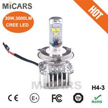 universal car auto led headlight h4 hi/lo kit