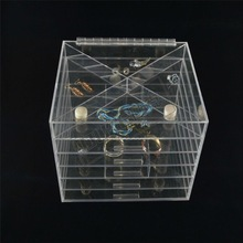 Best selling low price acrylic 7 drawer & clear makeup organizer