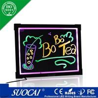 aliexpress advertising individual custom led glass white writing board