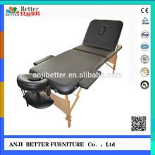 wooden black foldable massage table