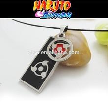 Anime Cartoon Naruto Necklace Write Round Eye Double Bands Pendants Necklace