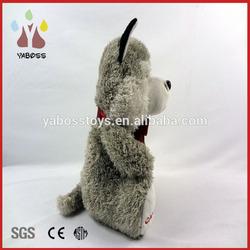 Supersoft material made super soft cute plush big big wolf toys