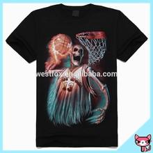 Hot Sale Print 3D Skeletons Black Man T Shirt