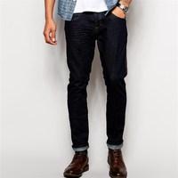 Superior quality in dark indigo wash export surplus jeans