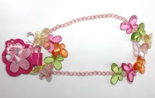 large acrylic bead necklace bead necklace and bead Bracelet set