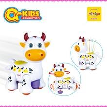 Q-kids jouet en plastique vache avec projection