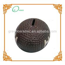 hot sale factory made ceramic globe money banks