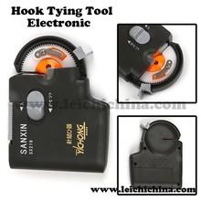 Electronic hook tying tool fishing hook tier