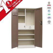 High gloss self-assemble space saving 2 door metal wardrobe
