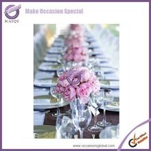 handmade glass wedding candelabra,stock candle holder,wedding candle holder 3 arm