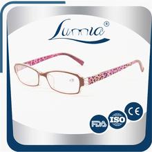 Custom promotional handmade reading glasses top grade neon color reader