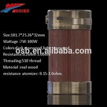 2015 new design hot selling 100w box mod original 100 watt wood box mod