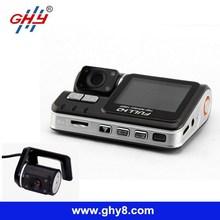 X6000 3.0Mp HD 720P Loop Recording 330 Rotation IR Night Vision Dual Camera Manual Car Cam hd Car Dvr