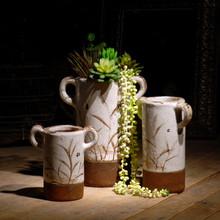Village style flower vase painting designs beautiful flower paintings on ceramic vase set