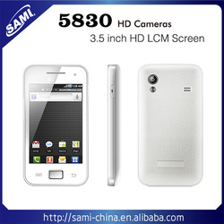 "3.5"" capacitive touch screen smart phone quad band 5830 Mobile Phone"