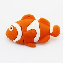 promotional gift cheap usb flash clown fish cartoon usb stick full capacity 2gb/4gb/8gb/16gb/32gb/64gb usb pen drive wholesale
