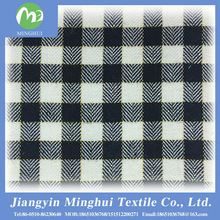 cotton polyester yarn dyed fabric for garment