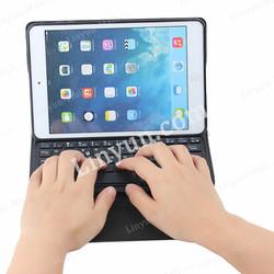 For ipad mini 1 2 3 detachable leather bluetooth keyboard case