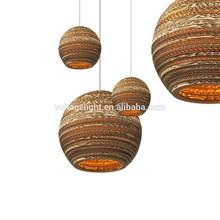 Decorative Modern Pendant light Recycled Cardboard Pendant Light