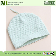 2015 New design high quality plain solid color knitted baby hat