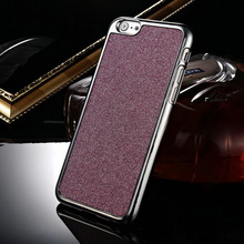 Silver electroplated PC plastic back shining fashion glitter for Apple iphone 6 case