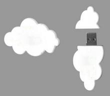 Promotional PVC cloud shape with logo usb flash drive