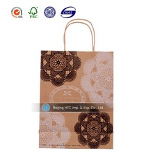 custom design logo store shopping and gifts packing bag kraft paper bag for food