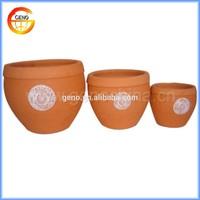Outdoor garden clay flower pots wholesale