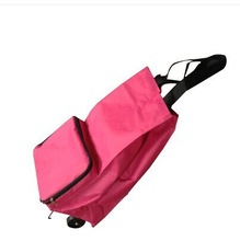 Spain style folding shopping trolley bag with 2 wheels