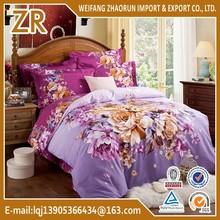 100%cotton 4pcs bedding set for home use