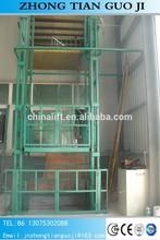 Shandong famous brand stationary guide rail lift platform price