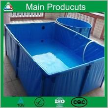 Economic Long Serve Life Collapsible Mobile PVC Tarpaulin Cylinder Fishing Tank Manufacturer