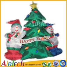 Fashionable inflatable christmas cartoon,christmas tree for sale