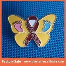 alibaba China wholesale new product high quality metal custom soft enamel red ribbon pin badge emblem