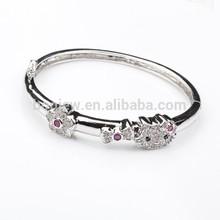 Charm Bangle Cat shaped Crystal Rhinestone Bracelet Jewelry