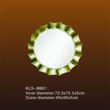 Hand Carved Round Polyurethane M801 Decorative Light Mirror Frame