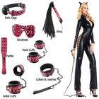 Plastic bag 6pcs kit gags blindfold whip nylon bondage for men bondage