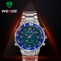 COOL WEIDE Trendy Ana-digit Date Day Alarm Stop Red LED Display waterproof wristwatch for men