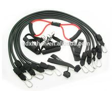 super strength 30 lb latex tubing exerciser kit for men fitness with 5 tubes
