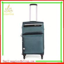 H631 Hot sale trolley luggage, nylon luggage belt with name bag