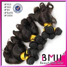 Fashion types top grade hot sale romance curl human hair extension