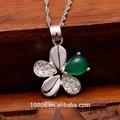 2015 piedranatural, 925 colgante de plata esterlina, forma de la flor venta al por mayor, para el partido, de regalo, compromiso