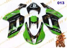 Aftermarket Fairing bodywork cowling Fairing Kits Face Cover Ninja ZX6R 636 07 08 painting color 013