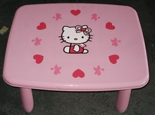 hello kitty design, furniture factory top grade fairy series plastic pink color kids bedroom furniture