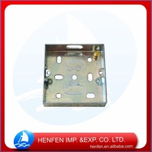 BS4662 pre-galvanized decorative switch and socket junction boxes